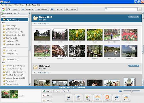 Picasa digital photo organizer