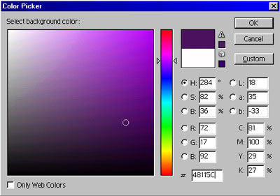background color picker